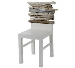 Muebles de madera reciclada ideas para for Muebles con troncos
