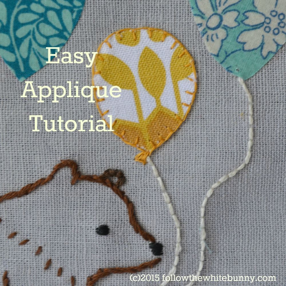 Follow the White Bunny: Easy Applique Tutorial