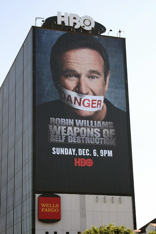 Robin Williams Weapons Self Destruction billboard Sunset Strip