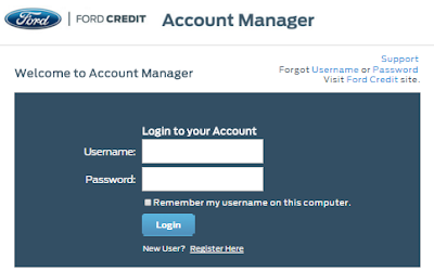 my ford credit login