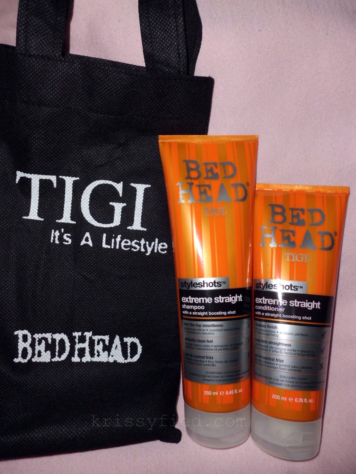 bed head extreme straight shampoo and conditioner