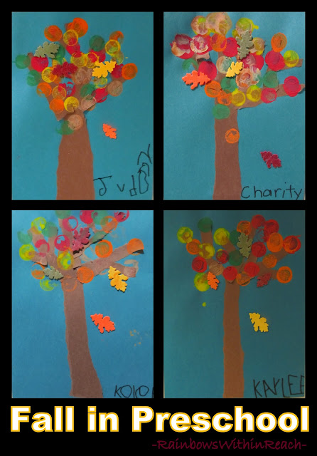 photo of: Fall Leaf Art Project in Preschool from RainbowsWithinReach