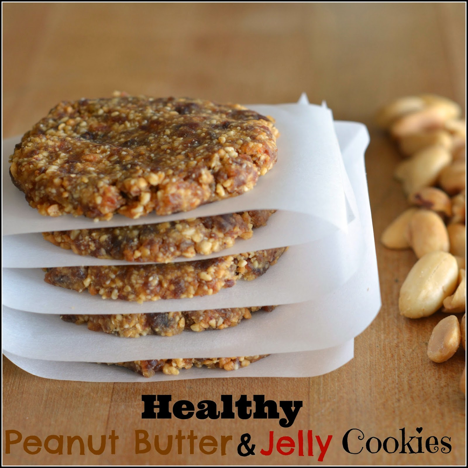 Mom, What's For Dinner?: Healthy Peanut Butter and Jelly Cookies