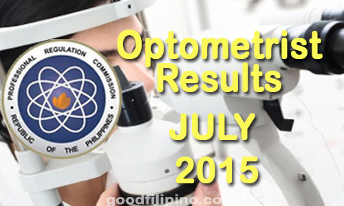July 2015 Optometrist PRC Board Exam Results