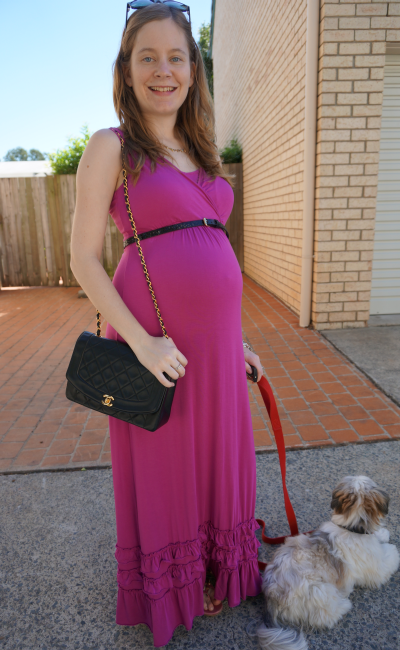 Mothers En Vogue Havanna Maxi Dress Third Trimester 32 weeks pregnant aussie blogger
