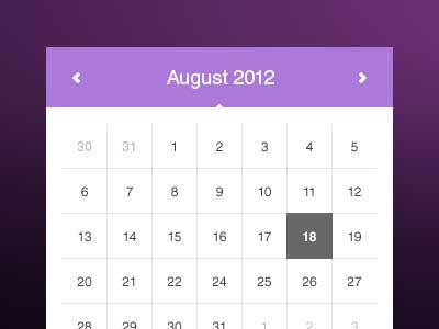 calendarios gratuitos en PSD