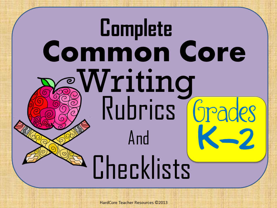 http://www.teacherspayteachers.com/Product/Complete-K-2-Common-Core-Writing-Rubrics-405727