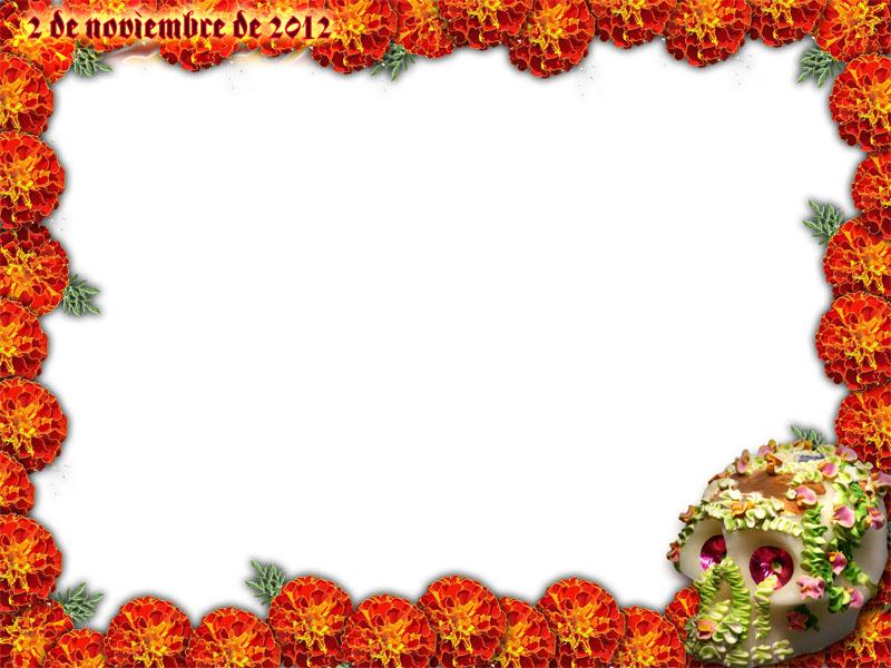 Marco para fotos del 2 de noviembre día de muertos