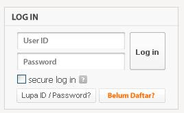 ke http://www.gemscool.com/index.php Kemudian klik LUPA ID/PASSWORD