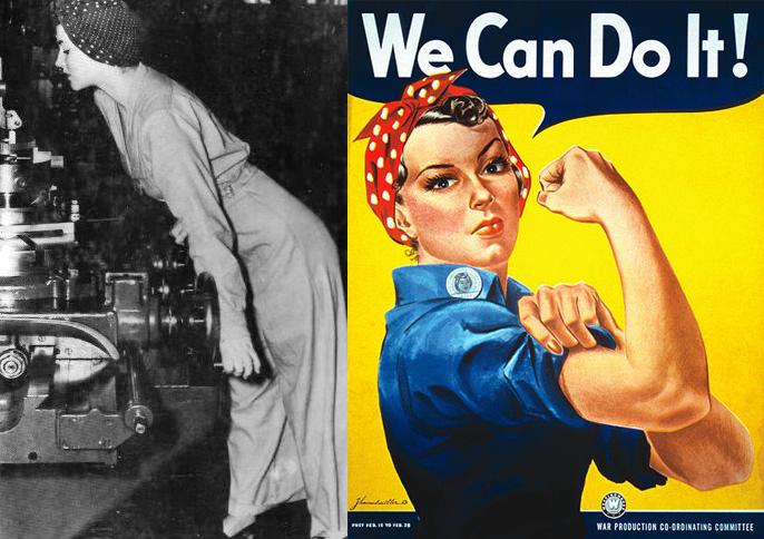 Idda van munster rosie the riveter hairstyle we can blog it for Bett yes we can
