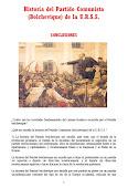CONCLUSIONES DE LA HISTORIA DEL PARTIDO COMUNISTA BOLCHEVIQUE DE LA URSS