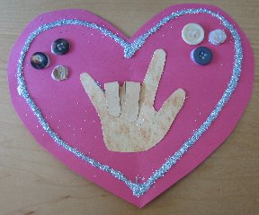 american sign language i love you craft craft using the childs handprint
