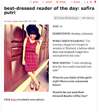 Featured in Best Dressed 29th December 2011 in teenvogue.com