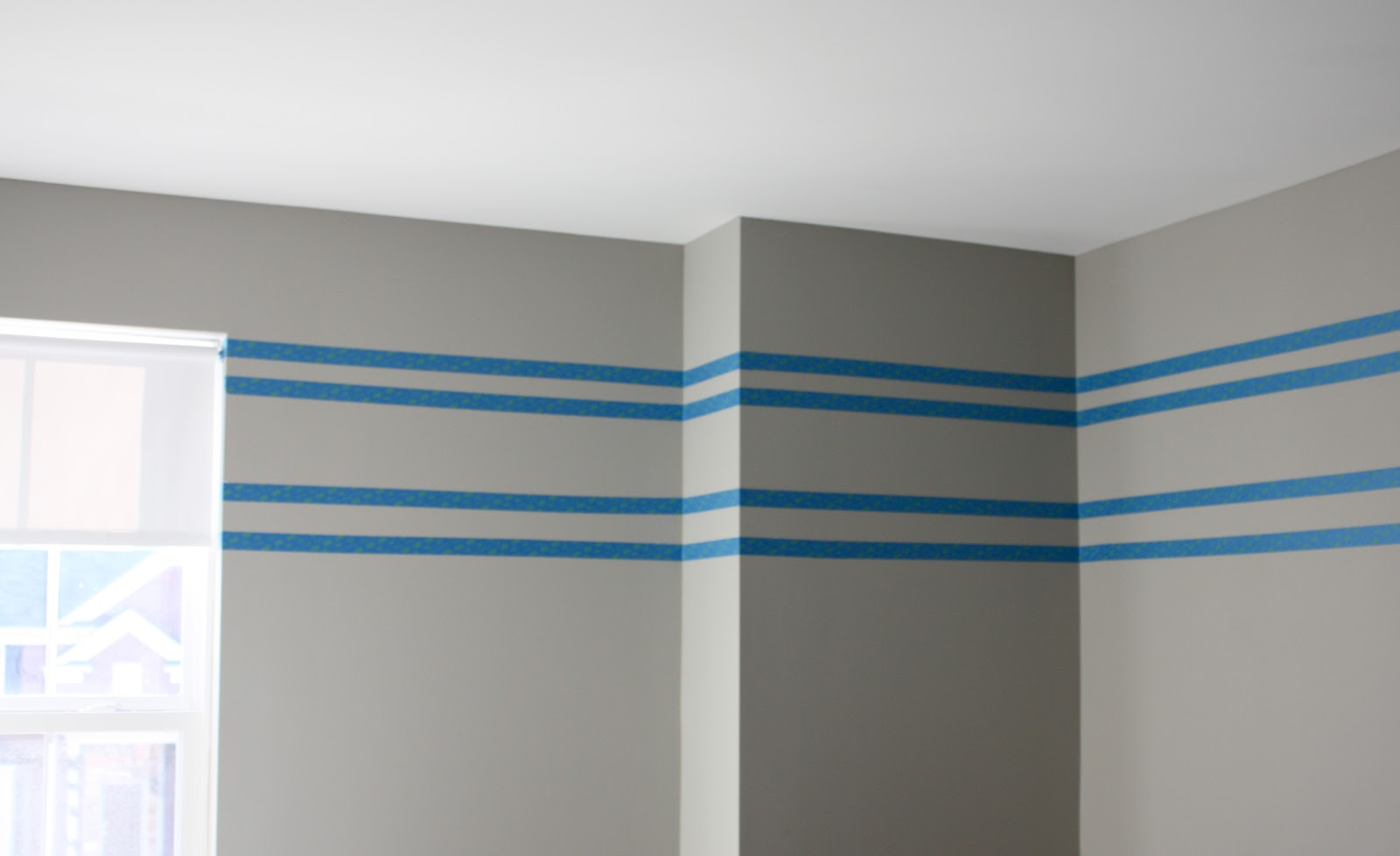 The yellow cape cod tone on tone wall stripe tutorial Paint of wall