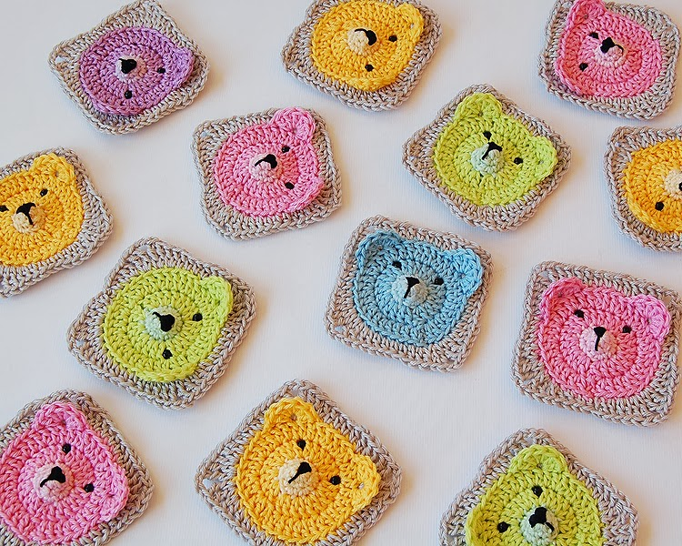 decided to make baby blanket out of those bears. It will take me a ...
