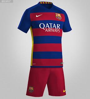 Jersey Terbaru Barcelona 2015/16