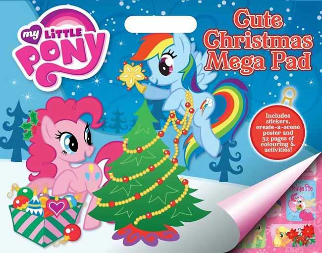 Planet Bayi My Little Pony Cute Christmas Mega Pad Inc Stickers Poster And Pages Of Coloring