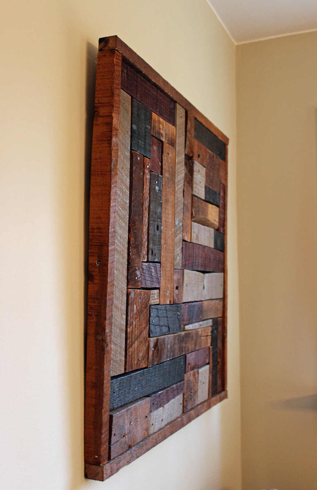 citydogcountrydoghome: Reclaimed Wood Art in My Country Dining Room