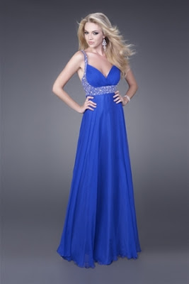 Royal Blue Prom Vestidos
