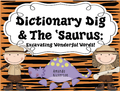 http://www.teacherspayteachers.com/Product/Dictionary-Dig-The-Saurus-Excavating-Wonderful-Words-269824