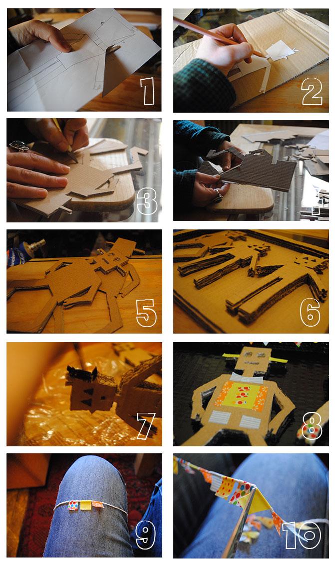 Tutorial: Robots de Cartón y Washi | Canela y Naranja