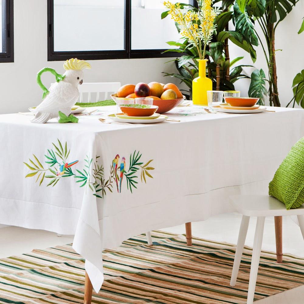 zara parrot tablecloth