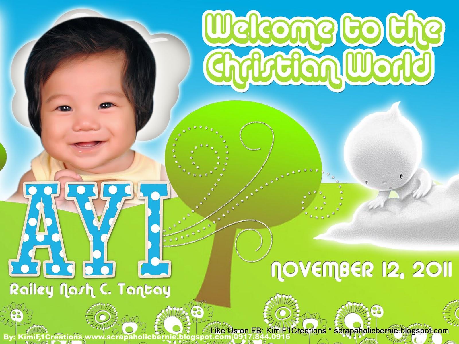 Another Free Baptismal Tarpaulin...