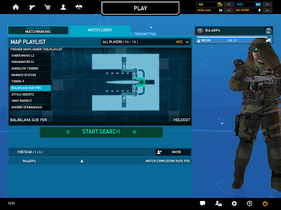 Ghost Recon Online - Balaklava Sub Pen Map Lobby