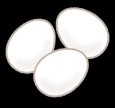 白い卵のイラスト