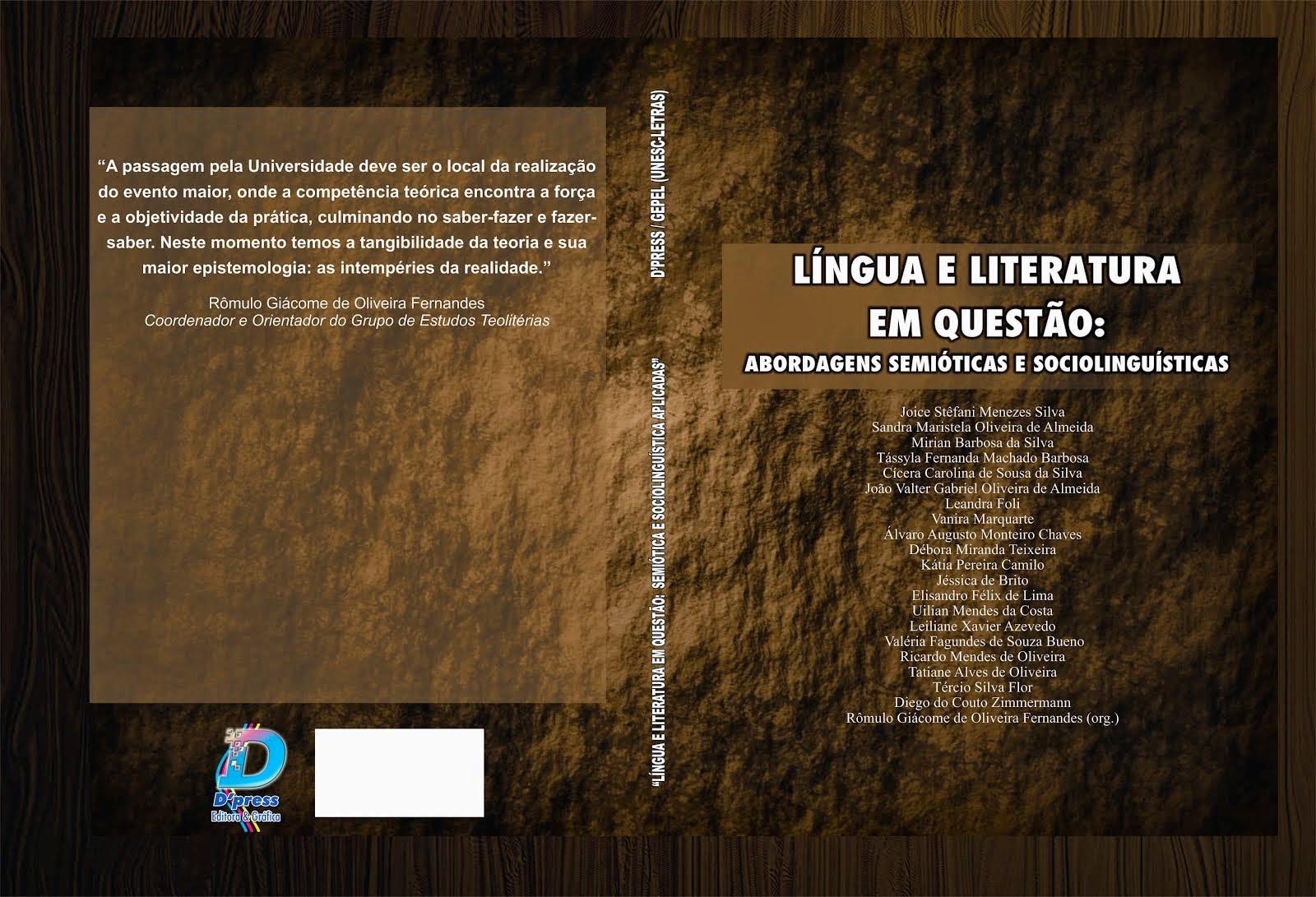 Livro - LÍNGUA E LITERATURA EM QUESTÃO: Abordagens metodológicas e sociolinguísticas