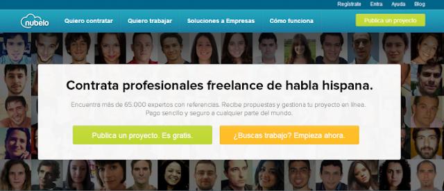 Nubelo (plataforma en español de múltiples servicios de autoempleo o teletrabajo)
