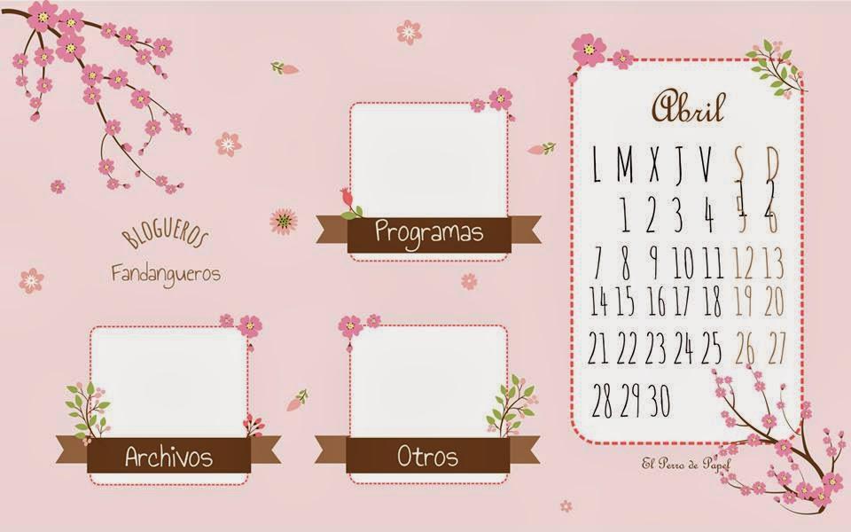 calendario Abril tres