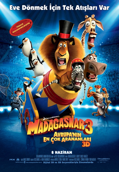 Madagaskar 3 (2012) Mkv Film indir