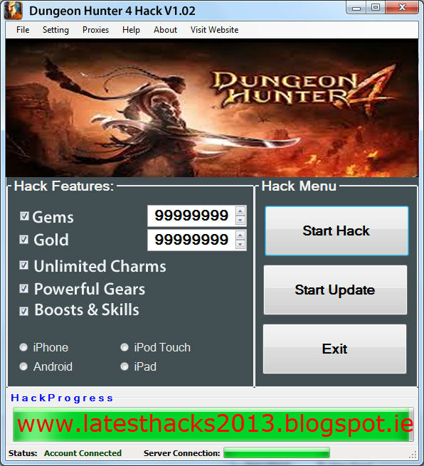 Dungeon Hunter 4 Hack cheat tool free download no survey