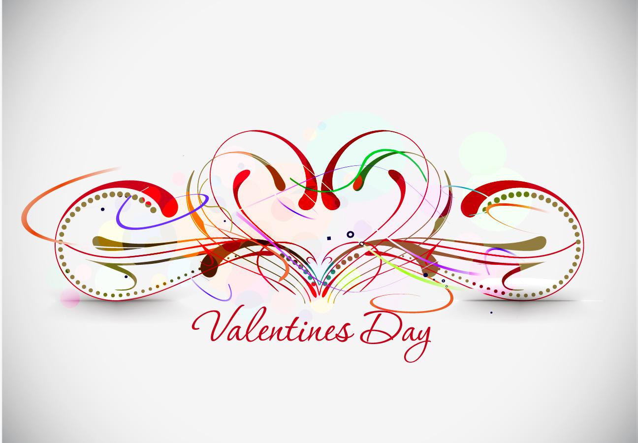 美しいバレンタインデーの背景 beautiful heart-shaped Valentine pattern イラスト素材4