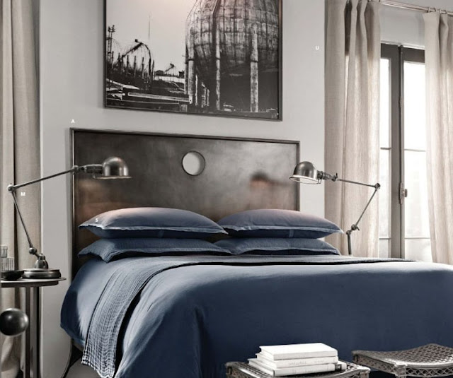 Masculine Bedroom roses and rust: time to man up - creating a masculine bedroom
