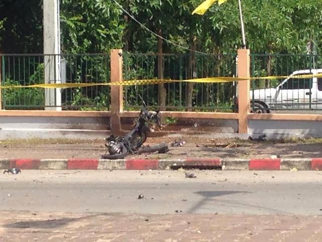 Bom meletup di padang besar Thailand 22 DIS 2013