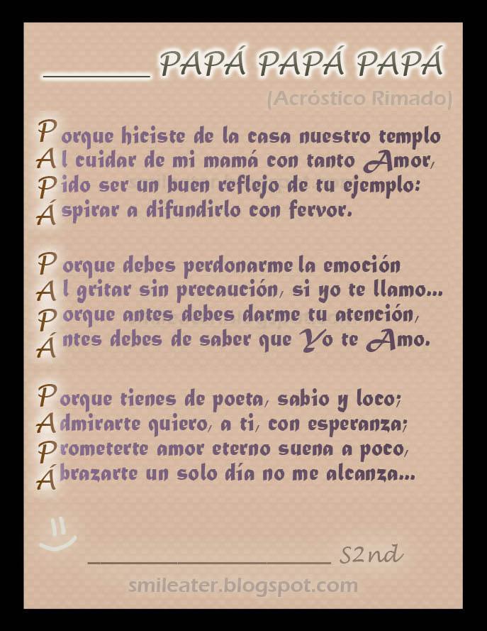 Poemas Para El DIA De Los Padres