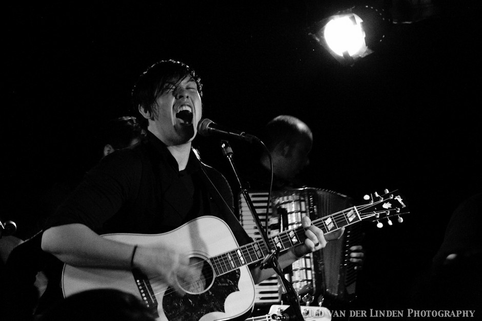 Liam lets out a mighty sound at the Family Crest CD release