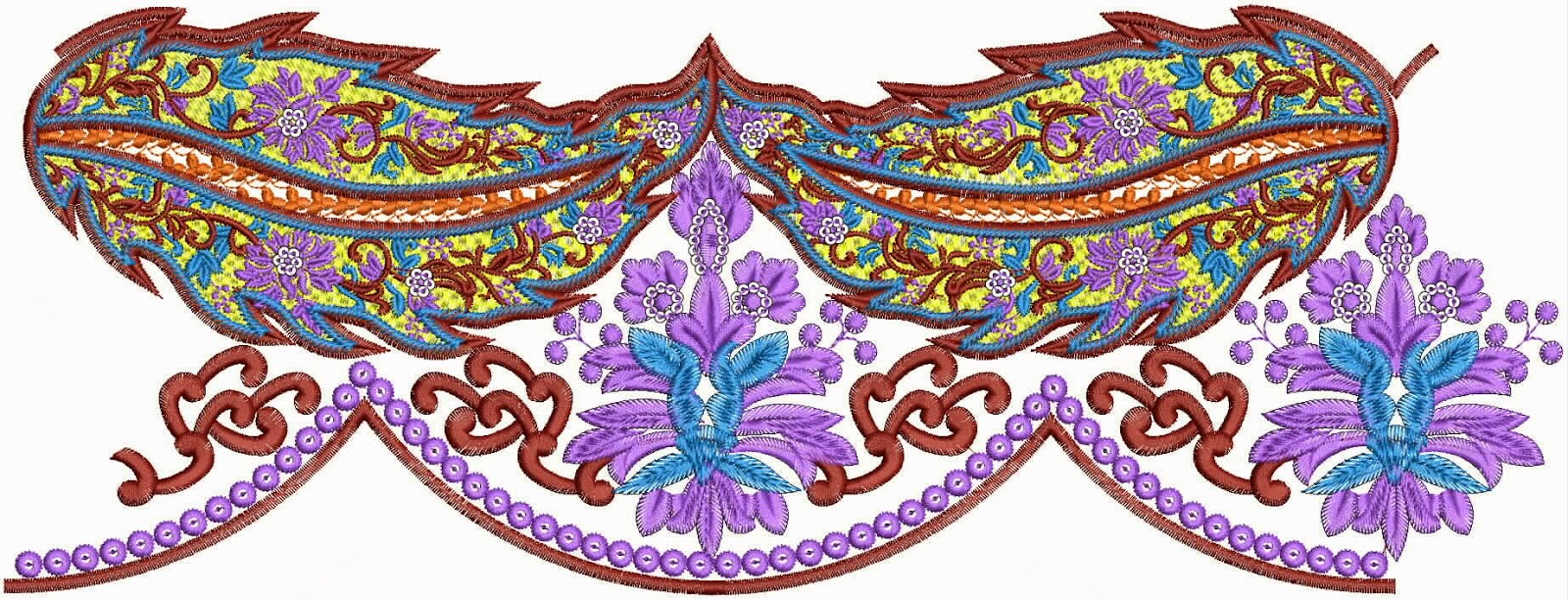 Embdesigntube Wedding Wear Embroidery Lace Border Designs