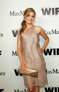 Maggie Grace strikes a pose at Max Mara Women In Film Cocktail Party red carpet