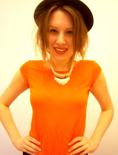 A small photo of me wearing Zara neon orange