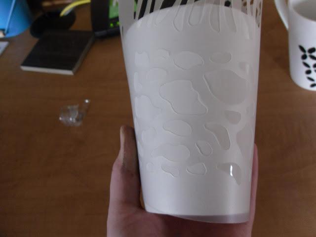 Stencil and mug