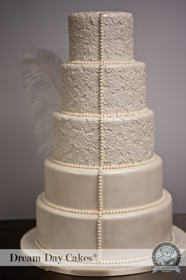 Easy Lace Cake Design : Have a vintage theme choose Lace Wedding Cake Designs ...