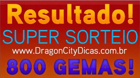 Resultado do Super Sorteio de 800 Gemas - Maio 2014