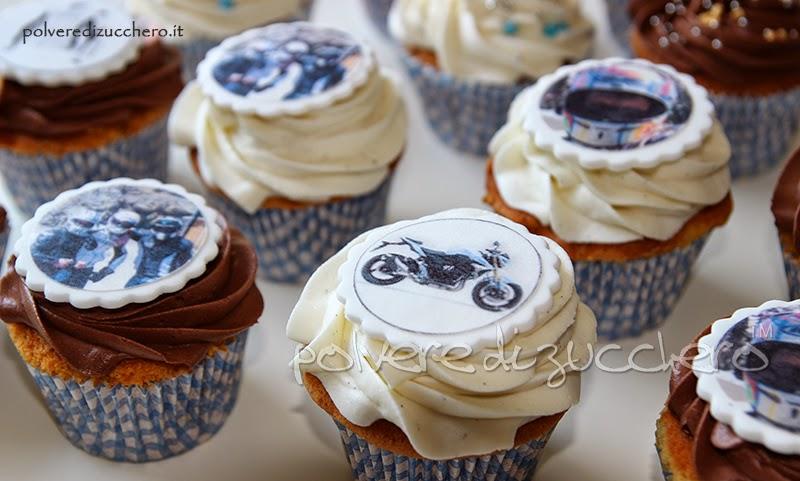 cupcakes decorati moto motociclista como varese milano chiasso lugano polvere di zucchero