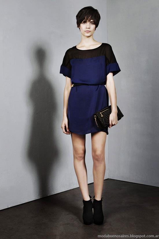 Moda invierno 2014 vestidos cortos de moda Clara 2014.