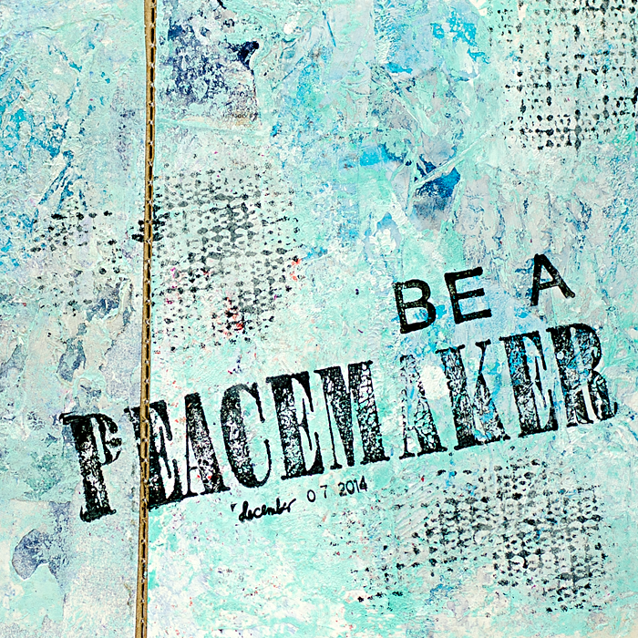 """Peace On Earth"" Art Worship Art Journal using Tim Holtz Small Folio 