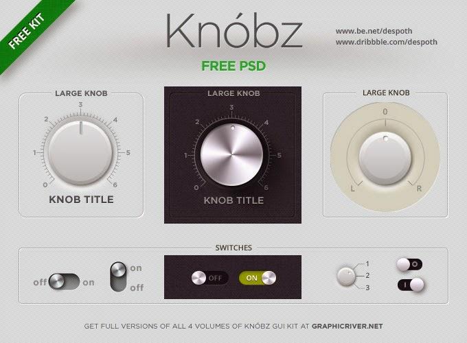 Free Knobz PSD