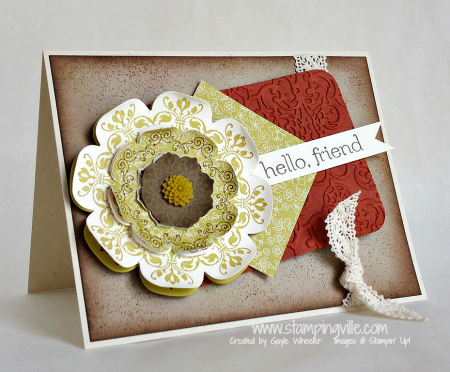 Hello, Friend Card with Daydream Medallions Stamp Set